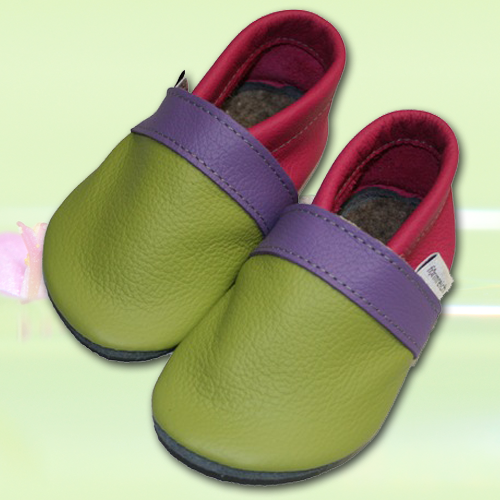 Wandfarbe Violett Lila Kolorat Eine Auswahl In Lila: Krabbelschuhe Lemongrün-Violett-Pink