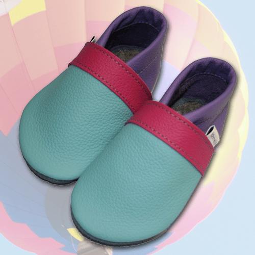 Wandfarbe Violett Lila Kolorat Eine Auswahl In Lila: Krabbelschuhe Aqua-Pink-Violett